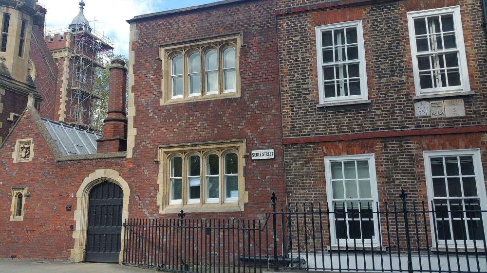 1787 restored 1951 Serle Street, Lincolns Inn Fields, Holborn, London1